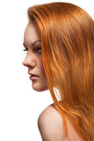Portrait of red hair beautiful woman royalty free stock photography