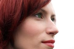 Portrait of red hair woman Royalty Free Stock Images