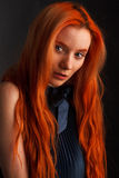 Portrait of red haired butiful model Royalty Free Stock Images