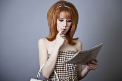 Portrait of red-haired girl. Stock Photography