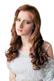 Portrait of red-haired girl Stock Images
