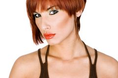 Portrait of a red-haired girl. Portrait of a beautiful red-haired girl Royalty Free Stock Photo