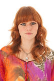 Portrait red haired girl Royalty Free Stock Photography