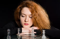 Portrait of red-haired girl Stock Photography