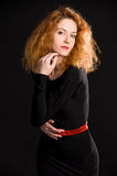 Portrait of red-haired girl Stock Photo