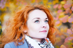 Portrait of red-haired girl Royalty Free Stock Photo