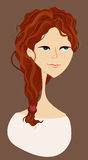 Portrait of red-haired girl. Portrait of foxy red-haired girl Stock Photo