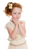 Portrait of red haired girl Royalty Free Stock Photography