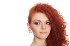 Portrait red haired girl looking away Royalty Free Stock Photo