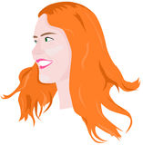 Portrait of red-haired girl Royalty Free Stock Images