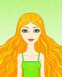 Portrait red-haired girl Royalty Free Stock Image