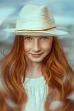 Portrait of red-haired girl Stock Image