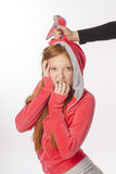 Portrait of red-haired girl Royalty Free Stock Image