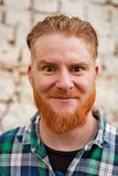 Portrait of a red haired man Royalty Free Stock Photo