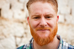 Portrait of a red haired man Stock Image