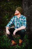 Portrait of a red haired man Stock Images