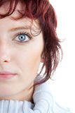 Portrait of red haired woman Stock Photos