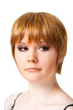 Portrait of the red-haired woman Stock Photos