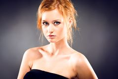 Portrait of red-haired woman Royalty Free Stock Photos