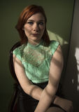 Portrait of red-haired woman Stock Photo