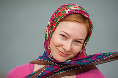 Portrait of red-haired woman Stock Photography