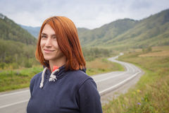Portrait of a red-haired woman Royalty Free Stock Images