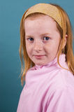 Portrait of a red head girl Stock Image