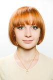Portrait of redhair girl Stock Image