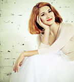 Portrait of the redhaired woman Royalty Free Stock Images