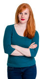 Portrait of redhead, arms crossed Stock Photos