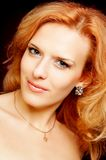 Portrait of redhead beautiful woman Royalty Free Stock Images