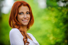 Portrait of redhead brunette Stock Photography