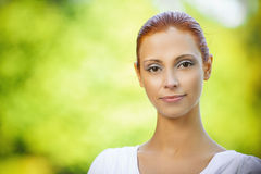 Portrait of redhead brunette Royalty Free Stock Images