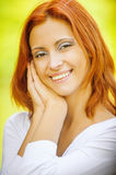 Portrait of redhead brunette Stock Images