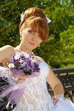 Portrait  redhead charming Bride Stock Photos