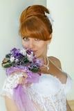 Portrait  redhead charming Bride Royalty Free Stock Photos