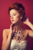 Portrait of redhead edwardian women Stock Images
