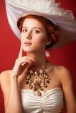 Portrait of redhead edwardian women Royalty Free Stock Photography