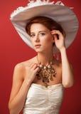 Portrait of redhead edwardian women Royalty Free Stock Images