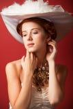 Portrait of redhead edwardian women Stock Photo