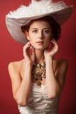 Portrait of redhead edwardian women Stock Image