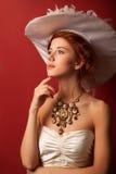 Portrait of redhead edwardian women Royalty Free Stock Photo