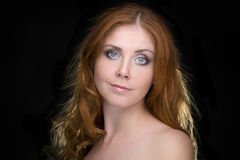 Portrait of a redhead female  model Royalty Free Stock Photo