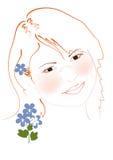 Portrait redhead girl Royalty Free Stock Image