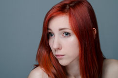 Portrait of a redhead girl Royalty Free Stock Image