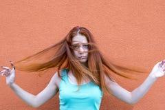 Red hair girl stock photos