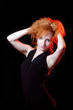 Portrait of redhead woman Royalty Free Stock Photos