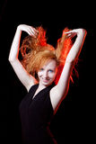 Portrait of redhead woman Stock Photography