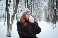Portrait of a redhead woman Royalty Free Stock Image