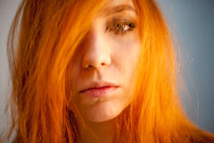 Portrait of redhead woman in soft focus Royalty Free Stock Photo